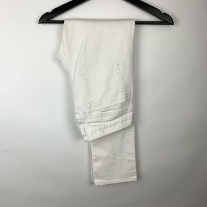 J. Crew Stretch Matchstick 27R Skinny White Jeans